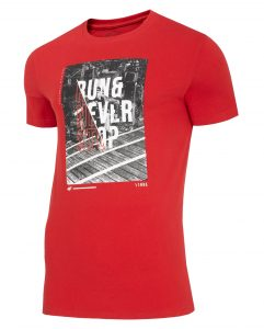 חולצת T פור אף לגברים 4F NEVERSTOP - אדום