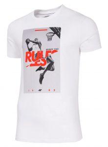 חולצת T פור אף לגברים 4F RULES - לבן
