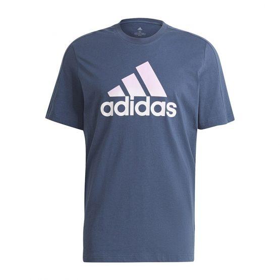 חולצת T אדידס לגברים Adidas Essentials - כחול