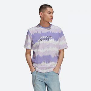 חולצת T אדידס לגברים Adidas Originals ADV AOP - סגול