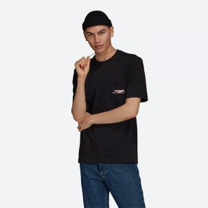 חולצת T אדידס לגברים Adidas Originals Adventure Pocket Logo - שחור
