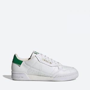 נעלי סניקרס אדידס לגברים Adidas Originals Continental 80 The Clean Classics - לבן