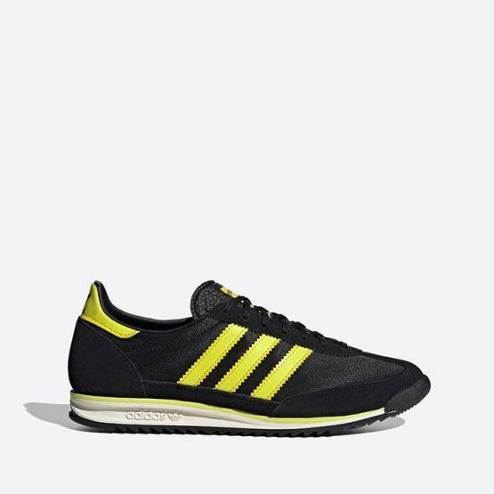 נעלי סניקרס אדידס לגברים Adidas Originals SL 72 - שחור/צהוב