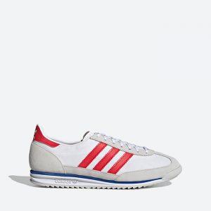 נעלי סניקרס אדידס לגברים Adidas Originals SL 72 - לבן  כחול  אדום