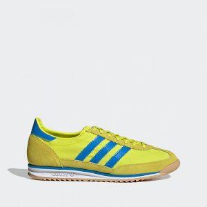 נעלי סניקרס אדידס לגברים Adidas Originals SL 72 - צהוב