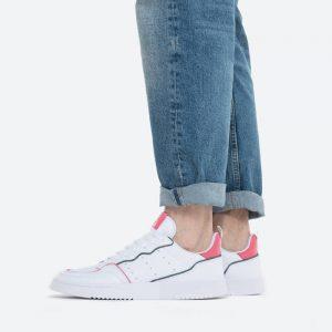 נעלי סניקרס אדידס לגברים Adidas Originals Supercourt - לבן/ורוד