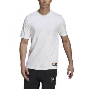 חולצת T אדידס לגברים Adidas Sportswear Pocket Tee - לבן
