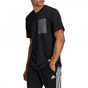 חולצת T אדידס לגברים Adidas Sportswear Pocket Tee - שחור