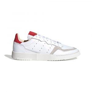 נעלי סניקרס אדידס לגברים Adidas Supercourt - לבן/אדום
