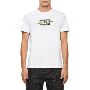 חולצת T דיזל לגברים DIESEL Support The Losers Logo Print - לבן