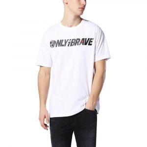 חולצת T דיזל לגברים DIESEL T-Just SV - לבן