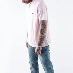 חולצת פולו לקוסט לגברים LACOSTE Classic Fit - ורוד