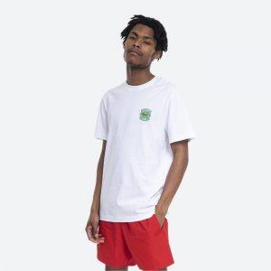 חולצת T לקוסט לגברים LACOSTE Club Badge - לבן