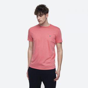 חולצת T לקוסט לגברים LACOSTE Pima - ורוד