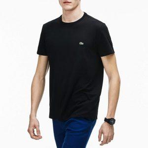 חולצת T לקוסט לגברים LACOSTE Prima - שחור