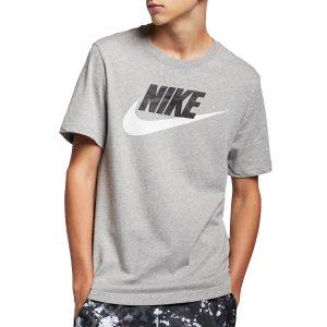חולצת T נייק לגברים Nike NSW Icon Futura Tee - אפור