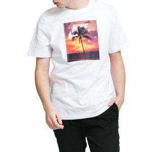 חולצת T נייק לגברים Nike NSW Spring - לבן