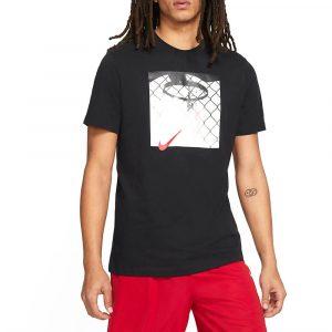 חולצת T נייק לגברים Nike Photo Basketball - שחור