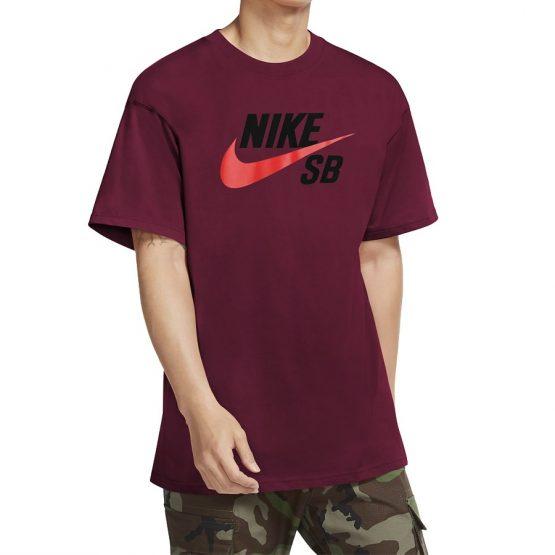חולצת T נייק לגברים Nike SB TEE Logo - בורדו