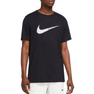 חולצת T נייק לגברים Nike Swoosh - שחור