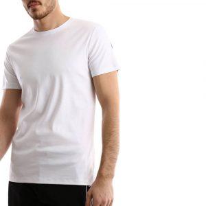 חולצת T ריפליי לגברים REPLAY BACKLOGO - לבן