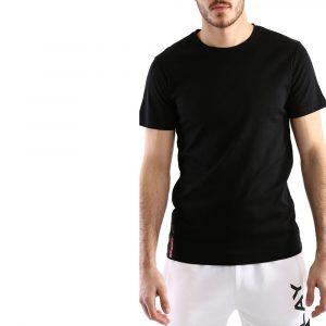 חולצת T ריפליי לגברים REPLAY BACKLOGO - שחור