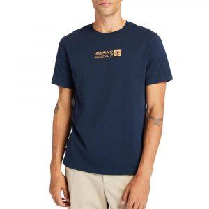 חולצת T טימברלנד לגברים Timberland Brand Carrier Mini Linear Tee - כחול