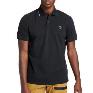 חולצת פולו טימברלנד לגברים Timberland Brand Carrier Polo - שחור
