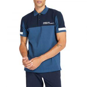 חולצת פולו טימברלנד לגברים Timberland Colourblock Polo - כחול