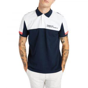 חולצת פולו טימברלנד לגברים Timberland Colourblock Polo - כחול כההלבן