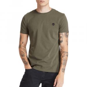 חולצת T טימברלנד לגברים Timberland Dun-River Crew - ירוק כהה