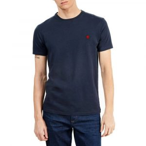 חולצת T טימברלנד לגברים Timberland Dunstan River Crew - כחול כהה