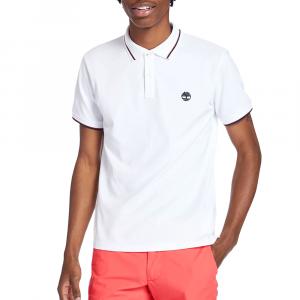 חולצת פולו טימברלנד לגברים Timberland Millers River Tipped-Collar - לבן