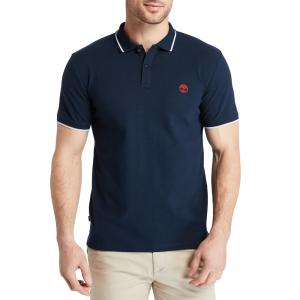 חולצת פולו טימברלנד לגברים Timberland Millers River Tipped-Collar - כחול כהה