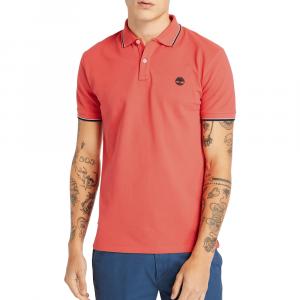 חולצת פולו טימברלנד לגברים Timberland Millers River Tipped-Collar - אדום