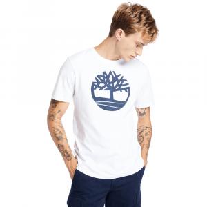 חולצת T טימברלנד לגברים Timberland River Tree Logo Tee - לבן