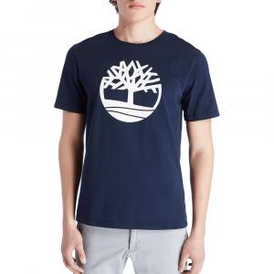 חולצת T טימברלנד לגברים Timberland River Tree Logo Tee - כחול כהה