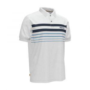 חולצת פולו טימברלנד לגברים Timberland Striped Polo - לבן