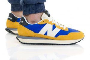 נעלי סניקרס ניו באלאנס לגברים New Balance MS237 - כחול/צהוב
