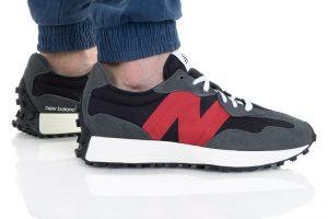 נעלי סניקרס ניו באלאנס לגברים New Balance MS327 - שחור/אפור
