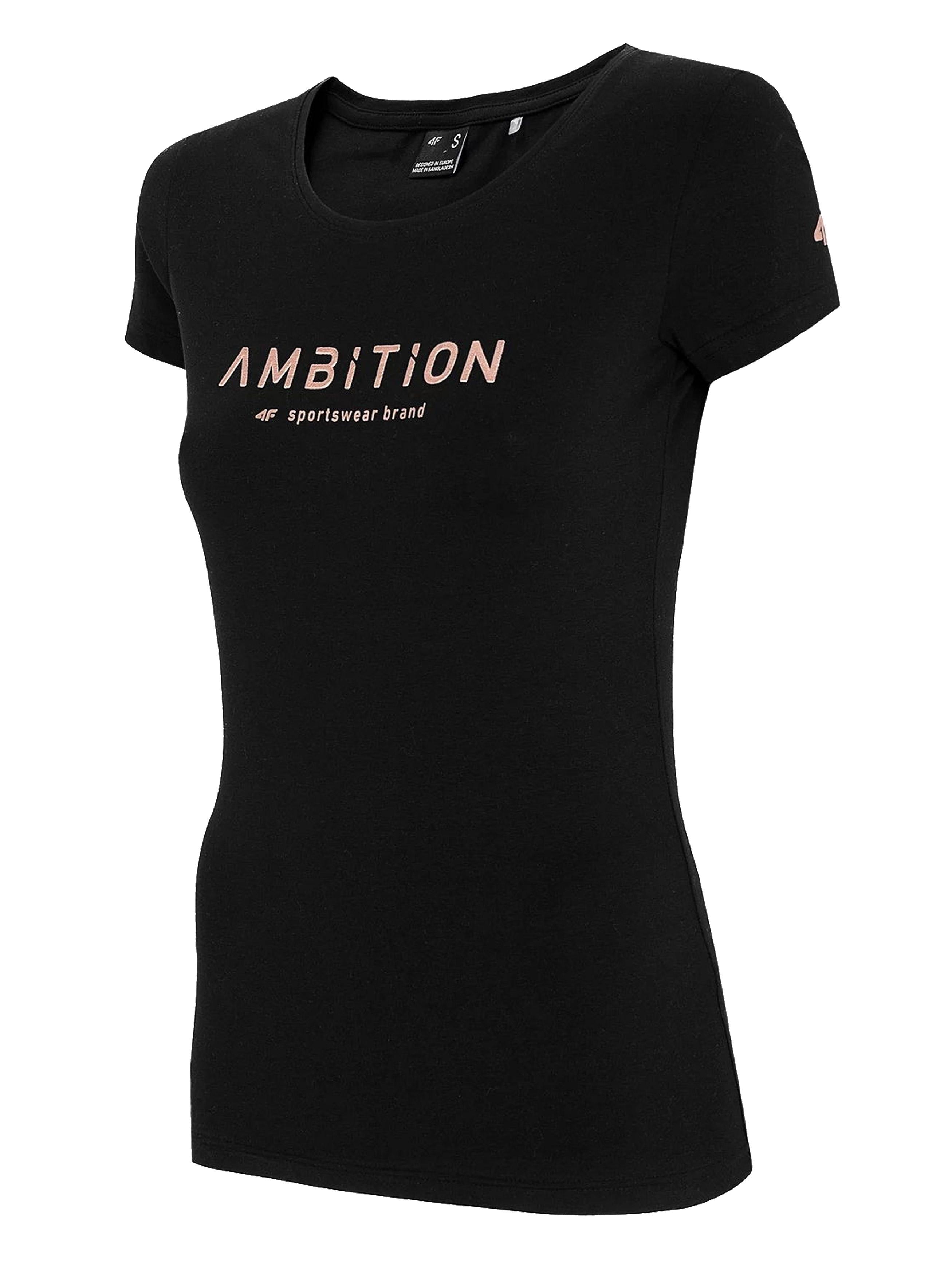 חולצת T פור אף לנשים 4F AMBITION - שחור