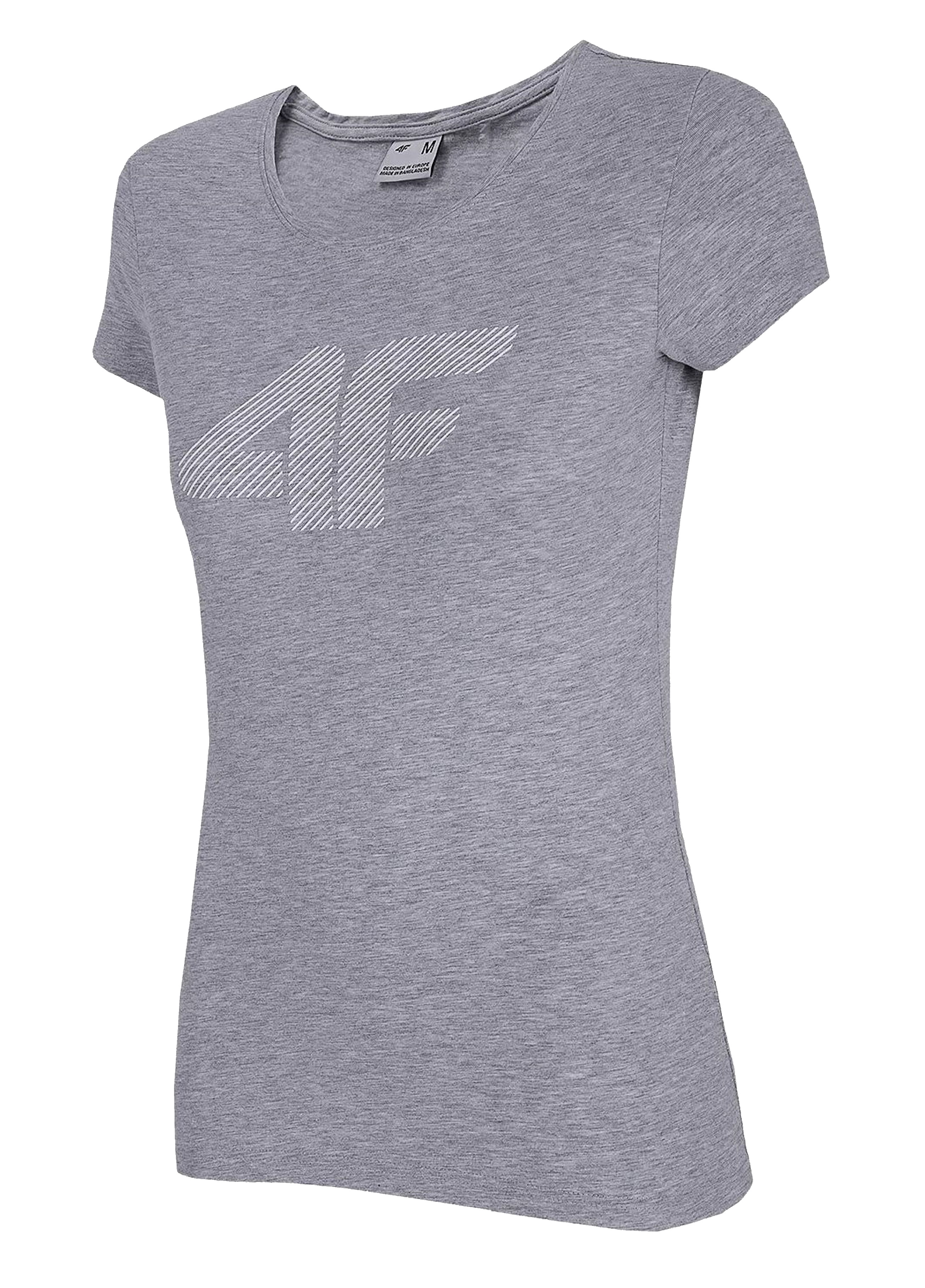 חולצת T פור אף לנשים 4F COMFY - אפור