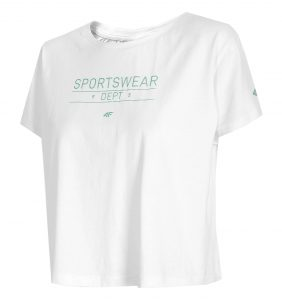 חולצת T פור אף לנשים 4F H4L21 TSD013 - לבן