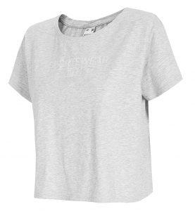 חולצת T פור אף לנשים 4F H4L21 TSD013 - אפור