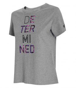 חולצת T פור אף לנשים 4F H4L21 TSD018 - אפור