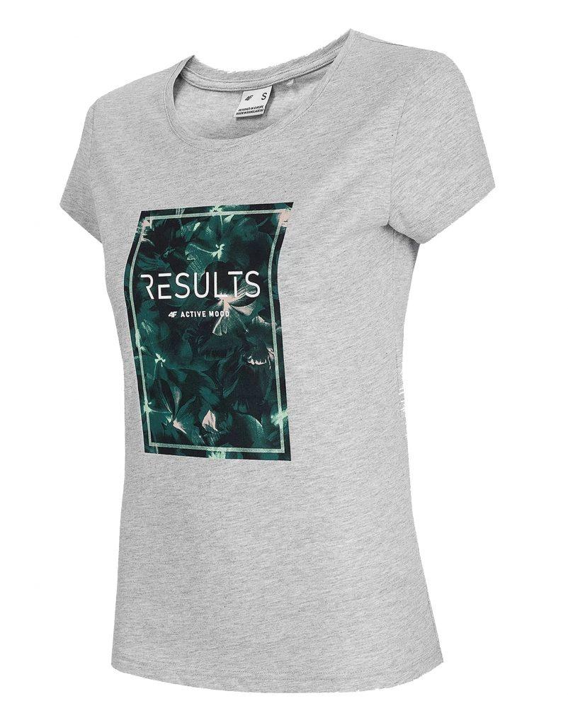 חולצת T פור אף לנשים 4F RESULTS - אפור