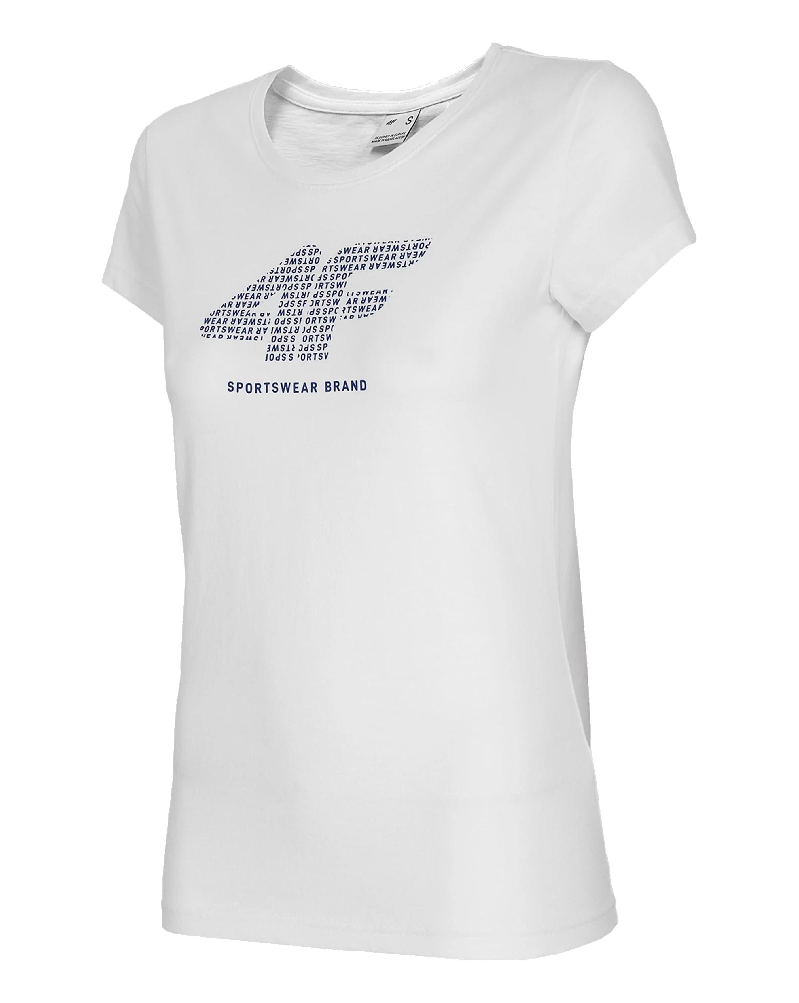 חולצת T פור אף לנשים 4F sportswear - לבן