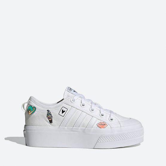 נעלי סניקרס אדידס לנשים Adidas Originals Nizza Platform J - לבן