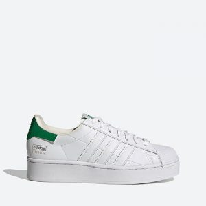 נעלי סניקרס אדידס לנשים Adidas Originals Superstar Bold 2.0 The Clean Classics - לבן/ירוק
