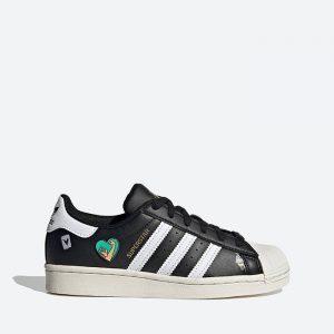 נעלי סניקרס אדידס לנשים Adidas Originals Superstar J - שחור